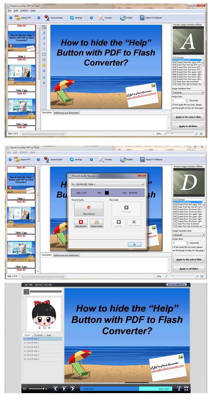 FlashConverter PPT to Flash(Freeware) full screenshot
