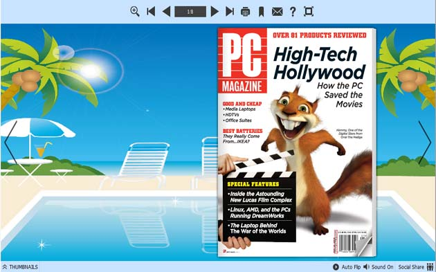 PDF to Flash Converter Themes For Holiday Beach 1.0 full