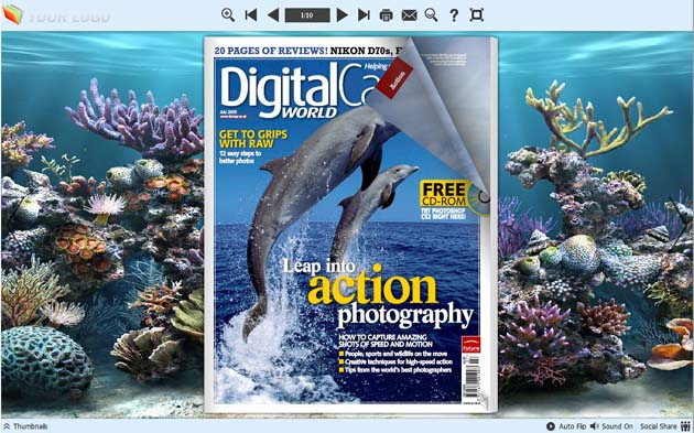 Windows 7 PDF to Flash Converter Themes for Underwater World 1.0 full