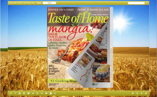 PDF to Flash Converter Themes for Wheat screenshot